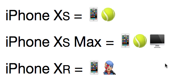 iPhone Xs Emoji