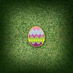 Easter Egg on Shaded Grass iPX Parallax