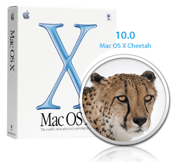 Mac OS X 10.0 Cheetah packaging